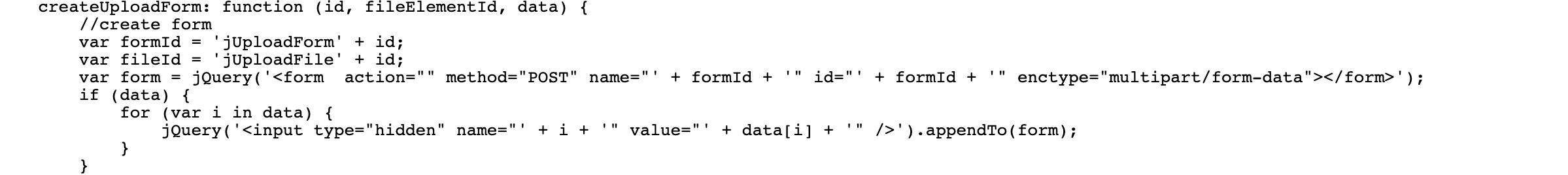 Scheme-1, js file is appending an HTML upload form into page.